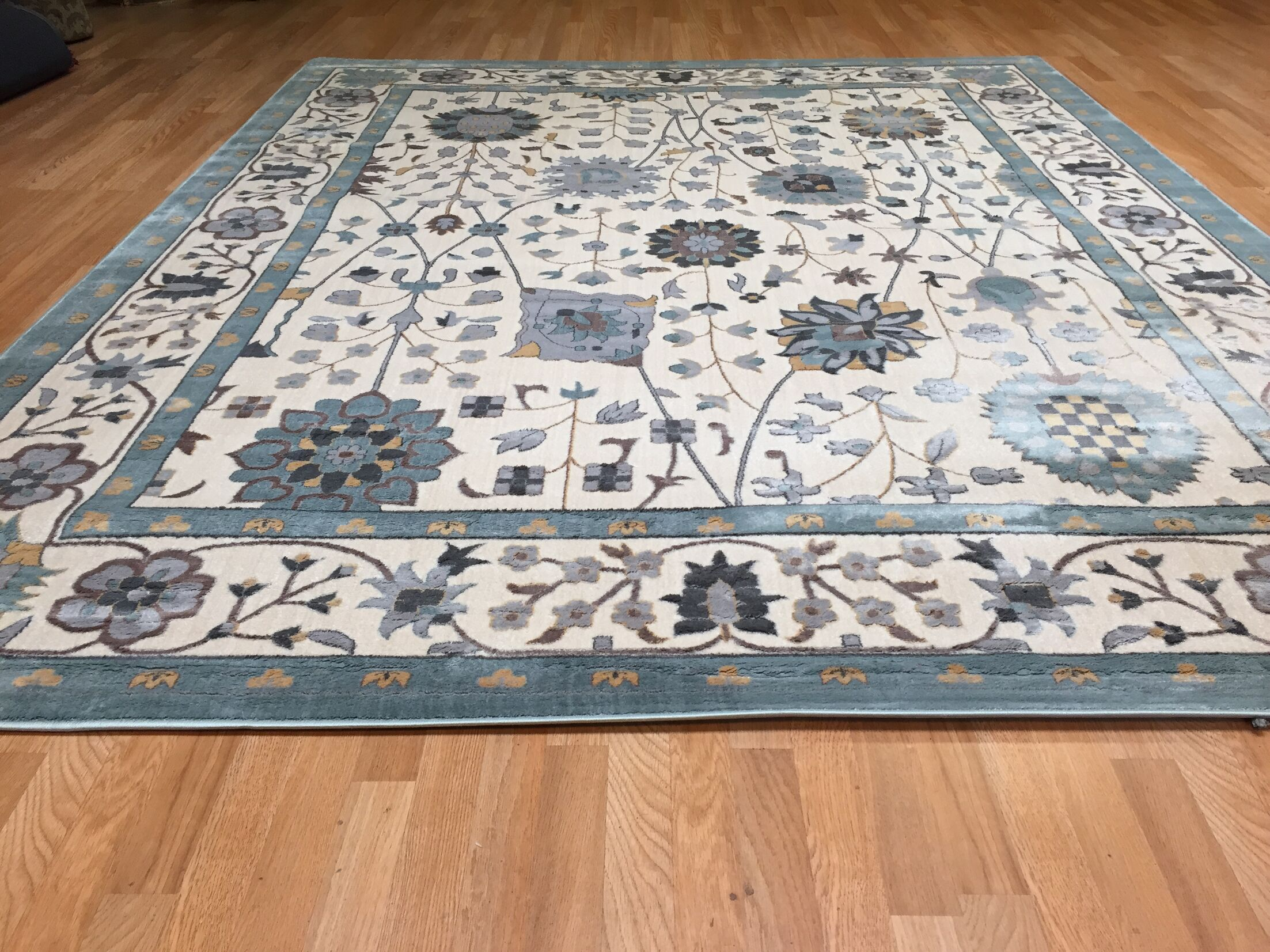 Blue Area Rug Rug Size: Rectangle 5'3