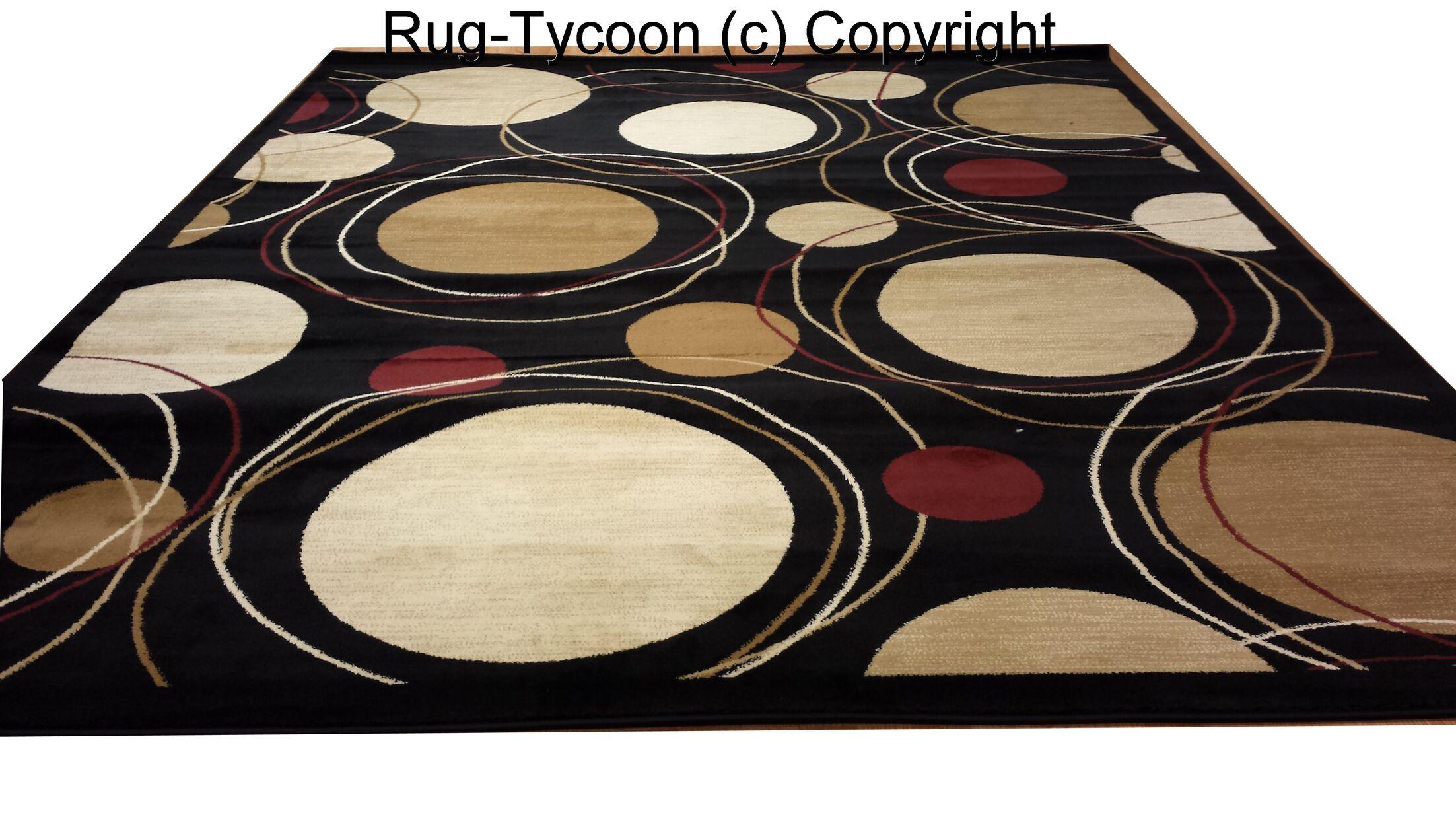 Black Area Rug Rug Size: Rectangle 7'11
