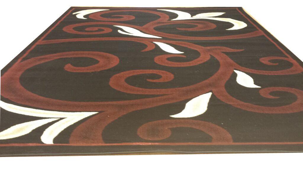 Black/Red Area Rug Rug Size: Rectangle 5'3