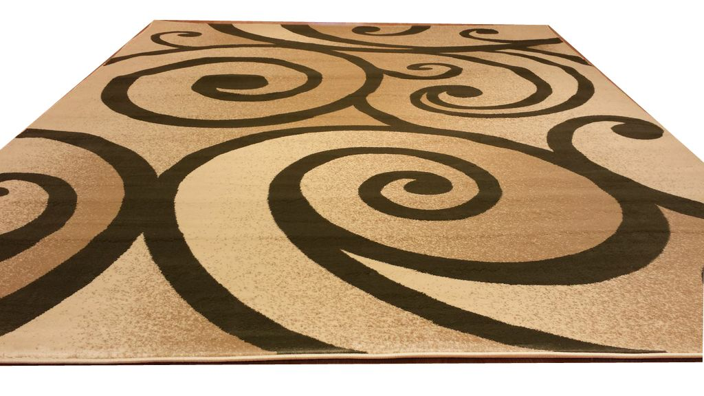 Beige/Green Area Rug Rug Size: Rectangle 5'3