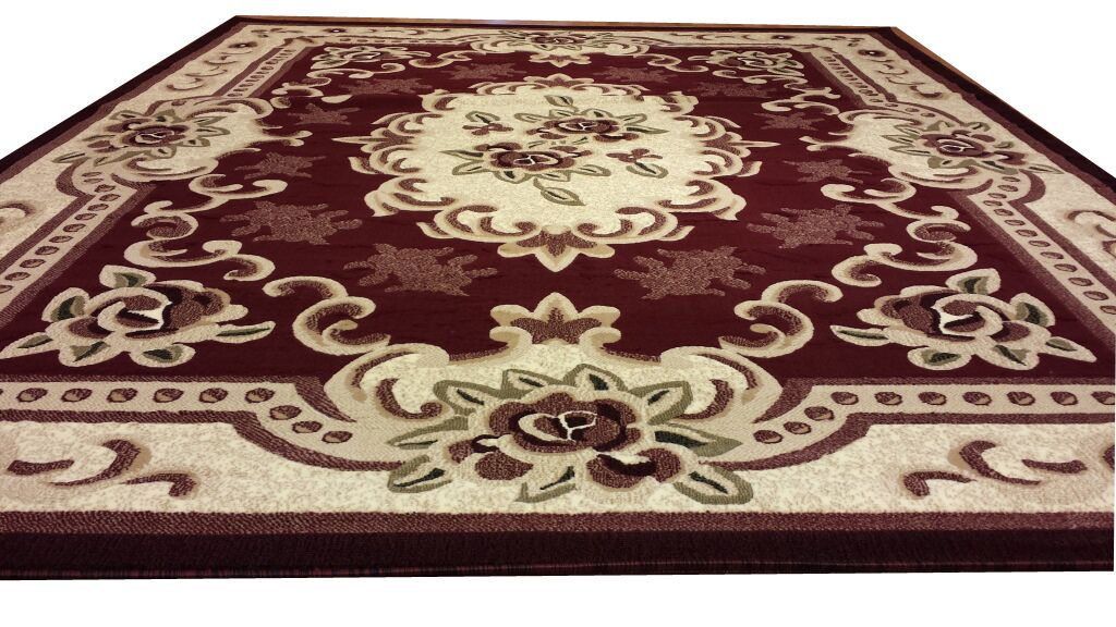 Hand-Carved Area Rug Rug Size: Rectangle 4' x 6'