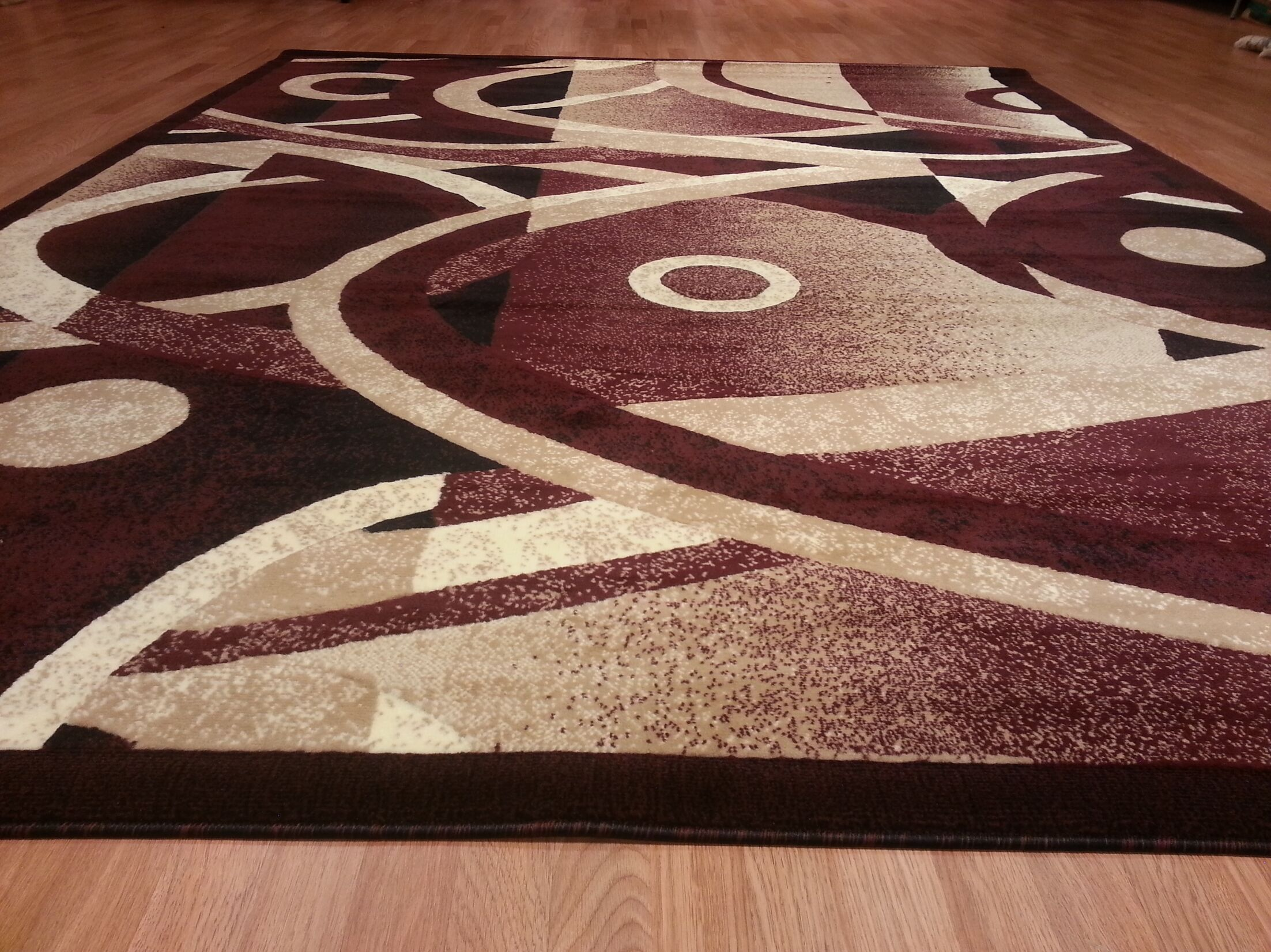 Hand-Carved Red Area Rug Rug Size: Rectangle 4' x 6'