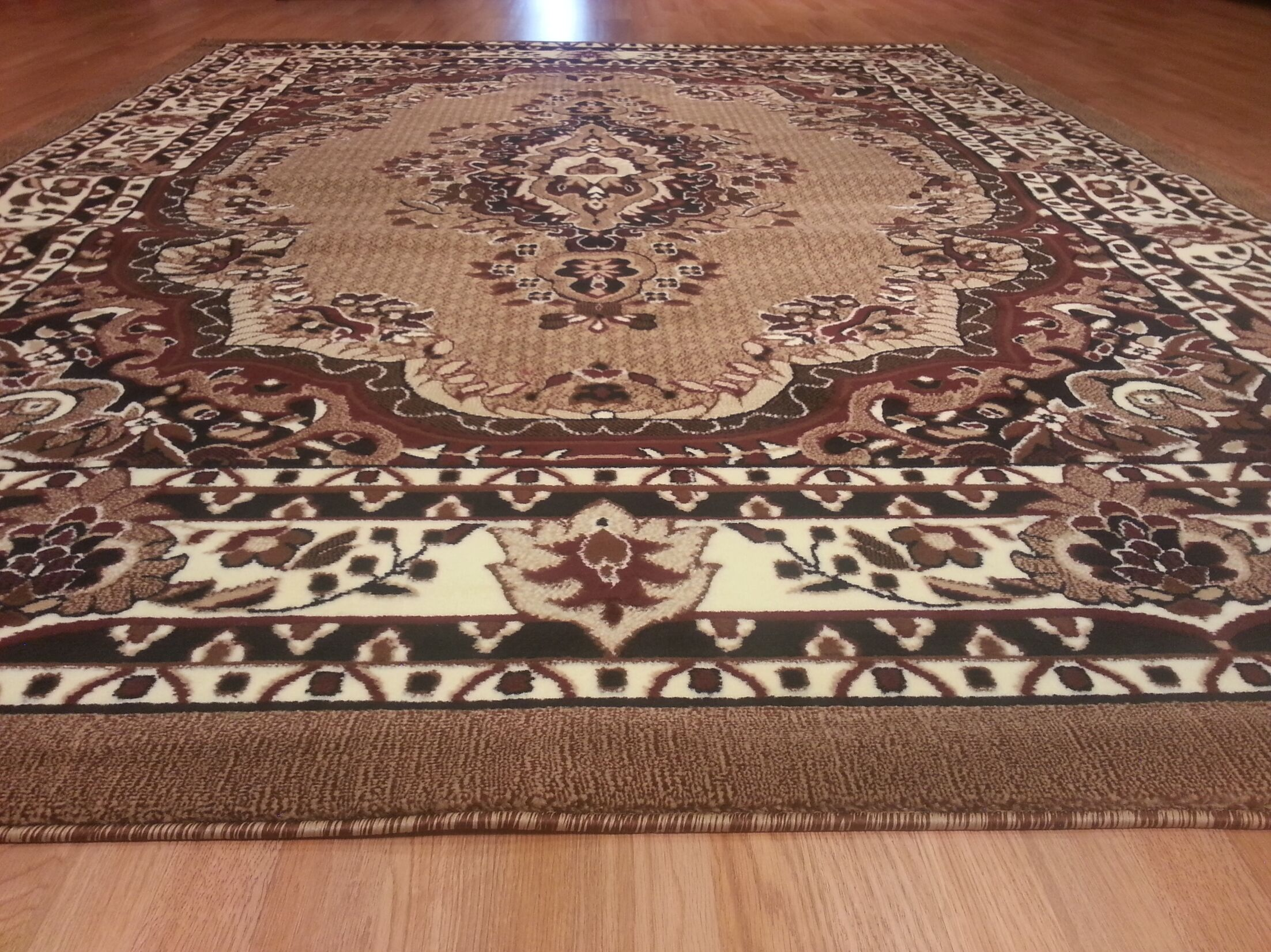 Hand-Carved Brown Area Rug Rug Size: Runner 2' x 7'2