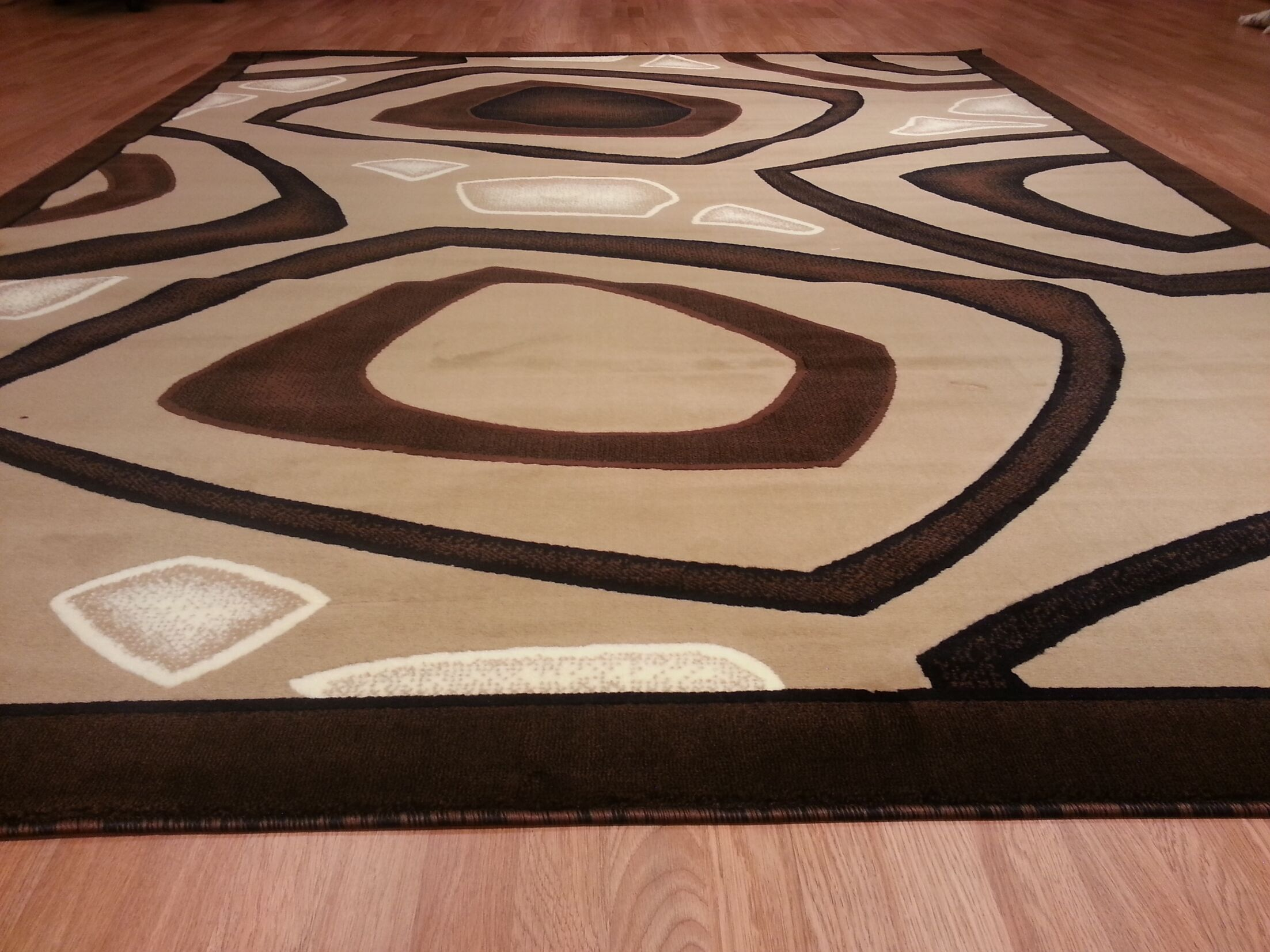 Hand-Carved Brown/Beige Area Rug Rug Size: Runner 2'7