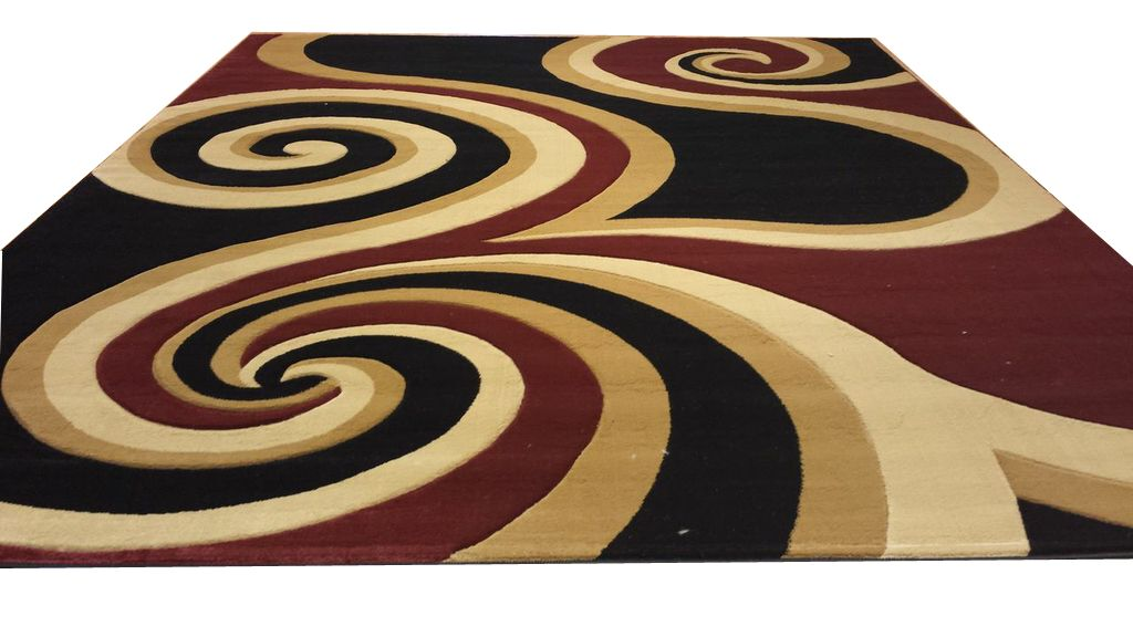 Hand-Carved Black/Brown/Red Area Rug Rug Size: Runner 2' x 7'2
