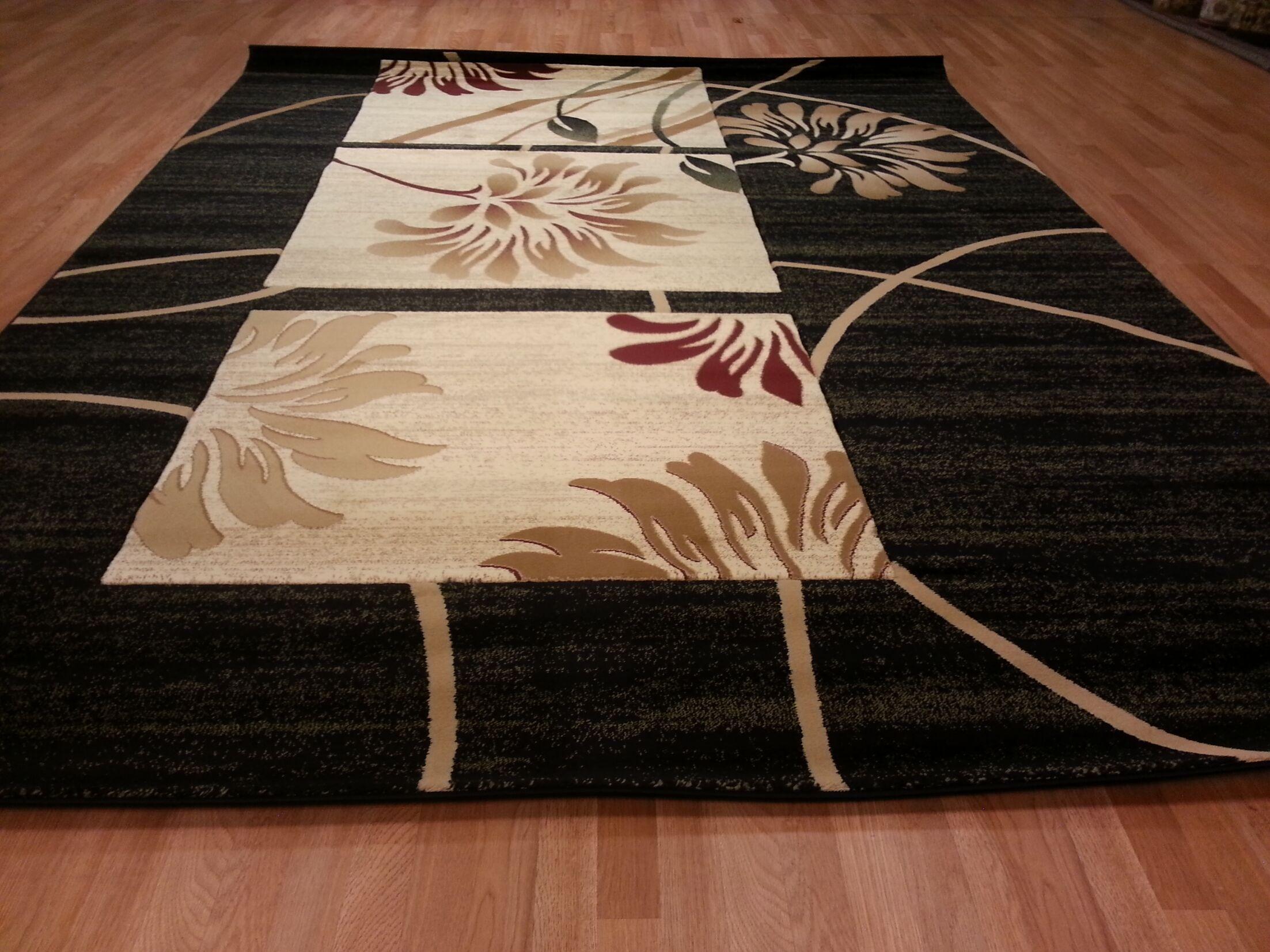 Hand-Carved Black Area Rug Rug Size: Runner 2' x 7'2