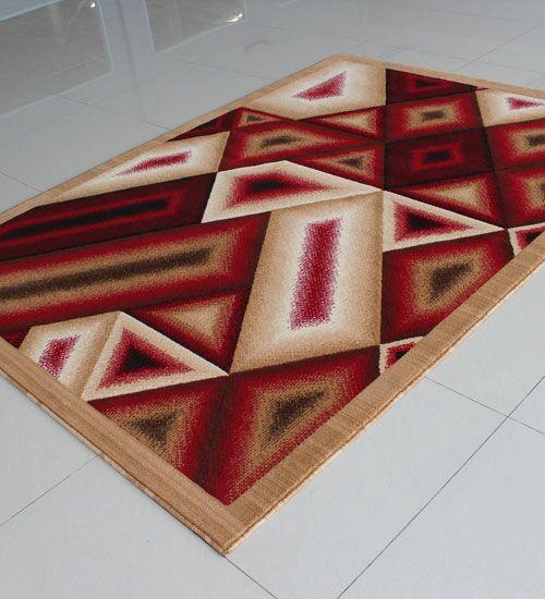 Berber/Red Area Rug Rug Size: 5'3