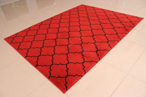 Orange/Black Area Rug Rug Size: 4' x 6'