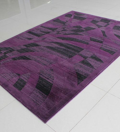 Purple Area Rug Rug Size: Rectangle 5'3