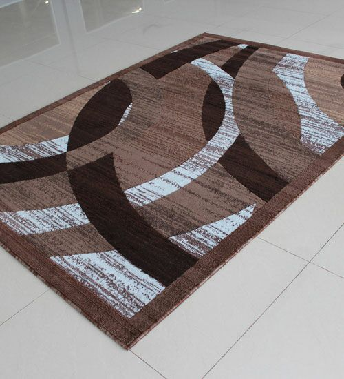 Brown/White Area Rug Rug Size: 4' x 6'