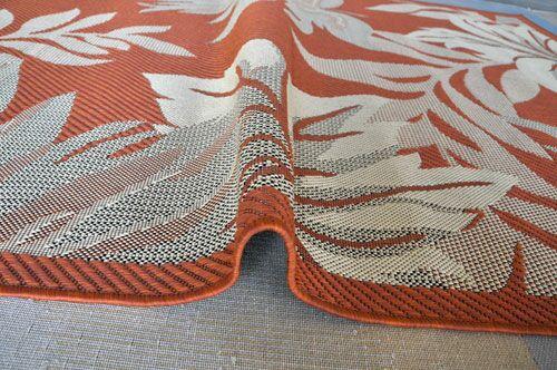 Terracotta Area Rug Rug Size: 5'3