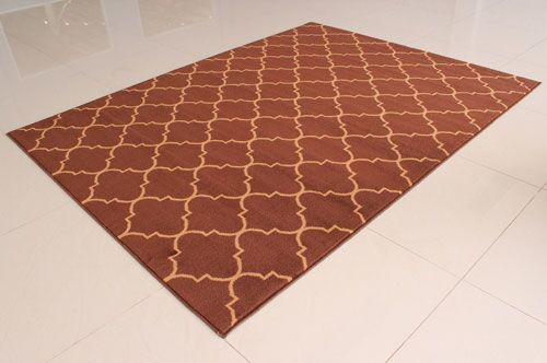 Brown Area Rug Rug Size: 4' x 6'