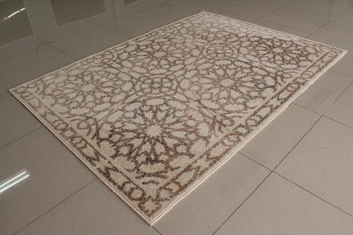 Ivory/Berber Area Rug Rug Size: 5'3