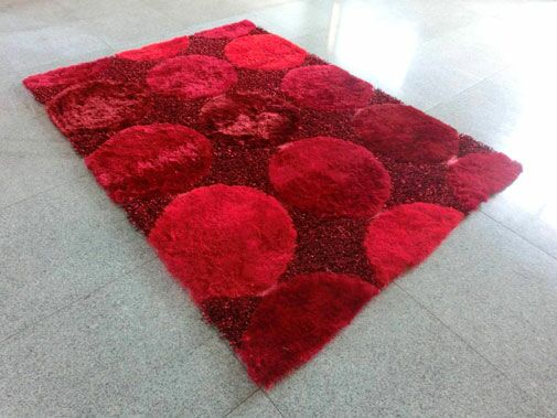 Red Area Rug Rug Size: 3' x 5'
