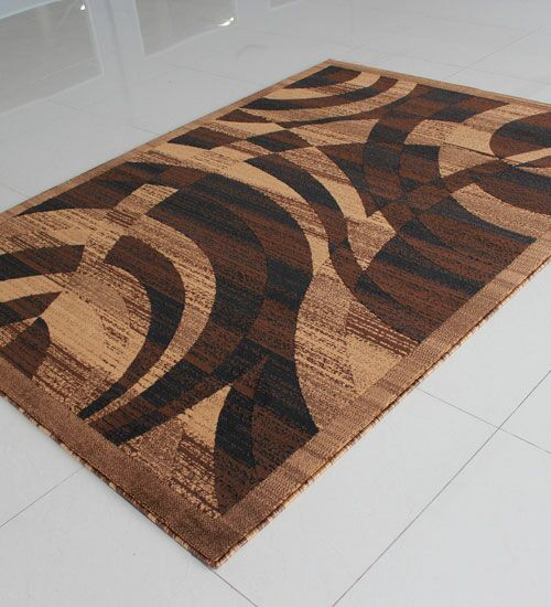 Brown Area Rug Rug Size: Rectangle 4' x 6'