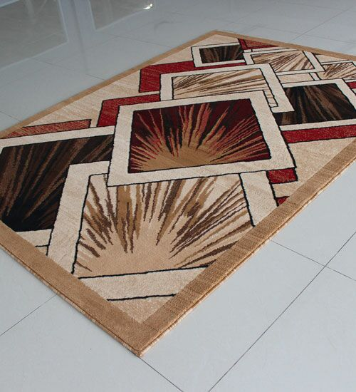 Beige/Red Area Rug Rug Size: 4' x 6'