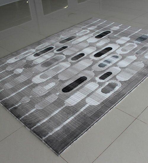 Gray Area Rug Rug Size: 5'3