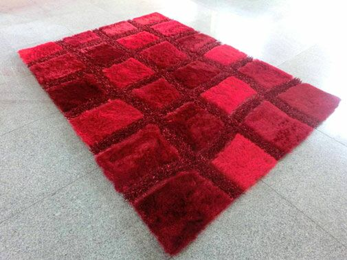Red Area Rug Rug Size: 7' x 10'
