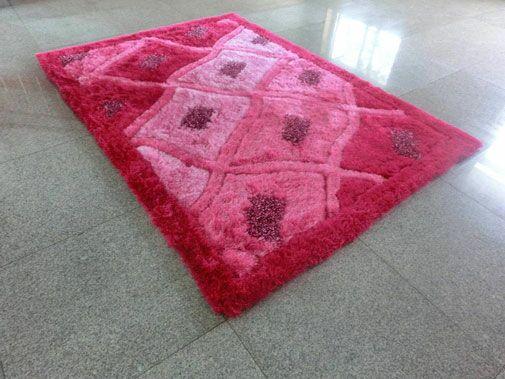 Pink Area Rug Rug Size: 7'11