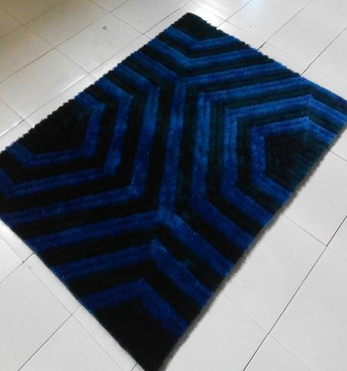 Dark Blue Area Rug Rug Size: 7'11