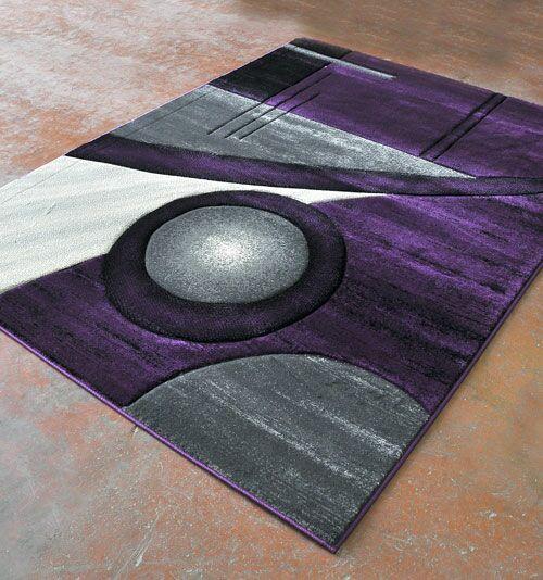 Purple/Black Area Rug Rug Size: Runner 2' x 7'2