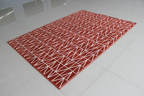 Terracotta Area Rug Rug Size: 5'3