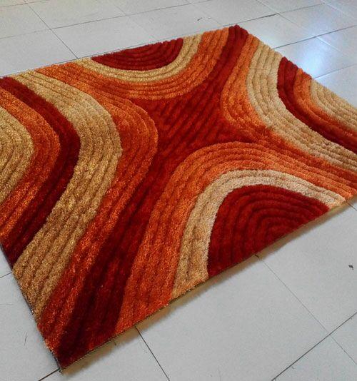 Orange Area Rug Rug Size: 7'11