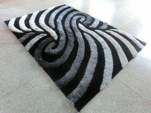 Black/Grey Area Rug Rug Size: 3' x 5'