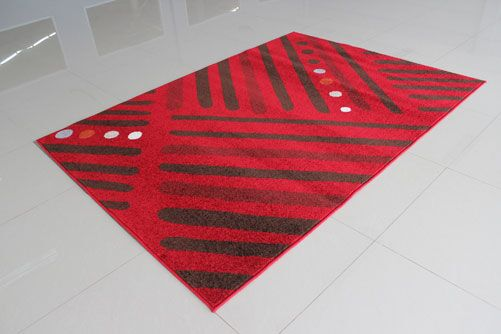 Red/Brown Area Rug Rug Size: 7'11