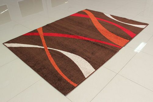 Brown/Red Area Rug Rug Size: 5'3