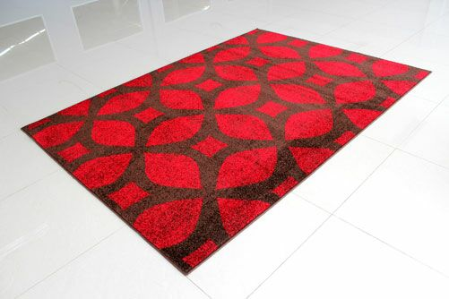 Brown/Red Area Rug Rug Size: 7'11