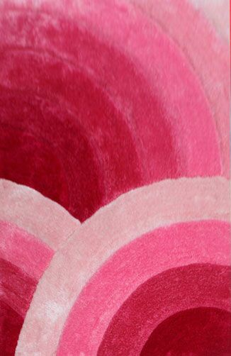 Krithika Pink Area Rug Rug Size: 5'3