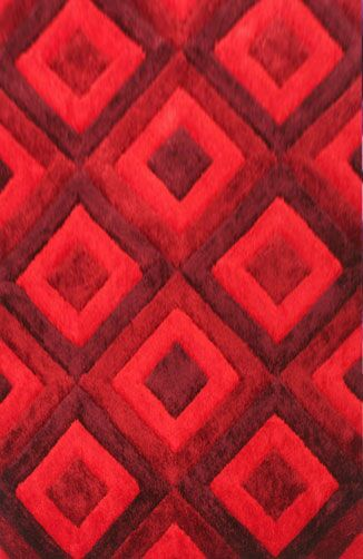 Blocker Red Area Rug Rug Size: 4' x 6'