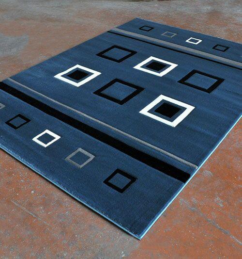 Blue/Black Area Rug Rug Size: 7'11