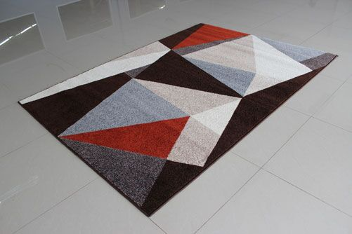 Brown/Gray Area Rug Rug Size: 5'3