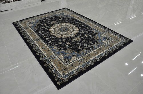 Navy Area Rug Rug Size: Runner 2'7