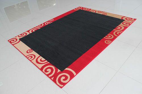 Black/Red Area Rug Rug Size: 3' x 5'