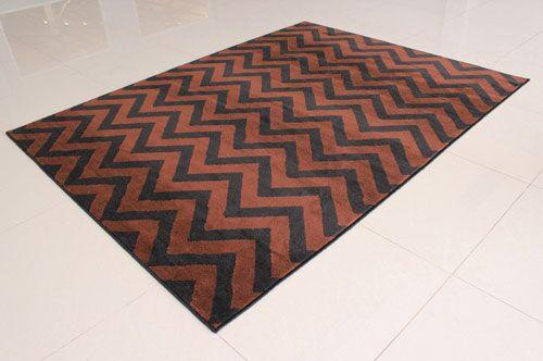 Black/Brown Area Rug Rug Size: 7'11