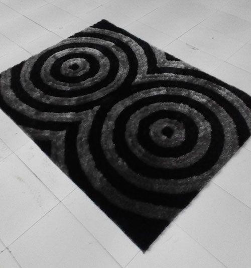 Black Area Rug Rug Size: 7'11
