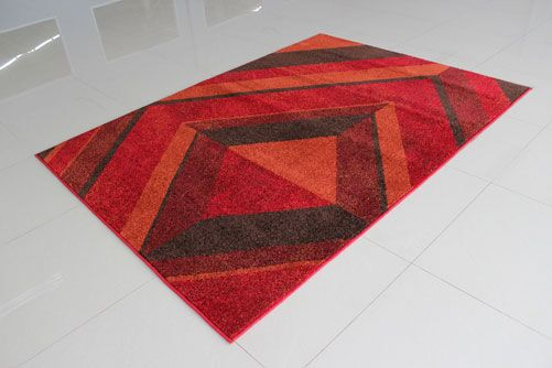 Red Area Rug Rug Size: Runner 2' x 7'2