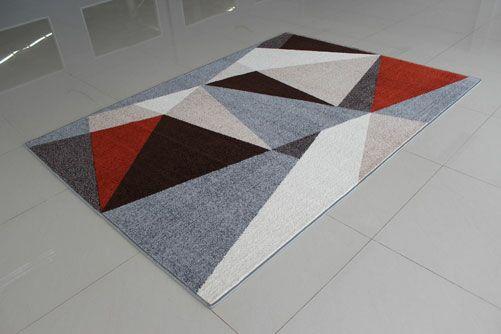 Gray/Terrcotta Area Rug Rug Size: 5'3