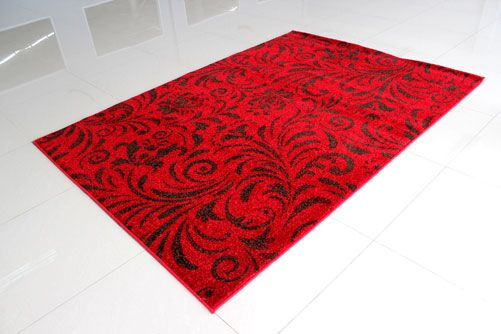 Red/Brown Area Rug Rug Size: 4' x 6'