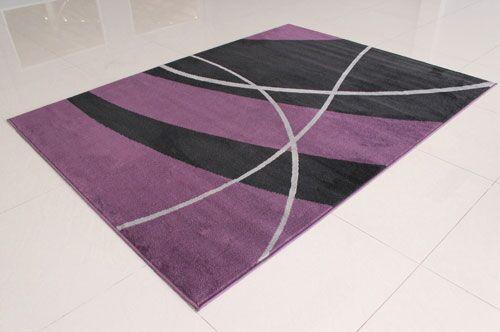 Black/Purple Area Rug Rug Size: 4' x 6'