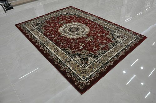 Red Area Rug Rug Size: Round 8' x 8'