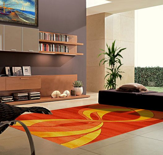 Terracotta Area Rug Rug Size: 7'11