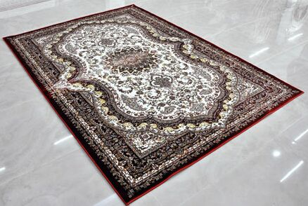 Red Area Rug Rug Size: 5'3