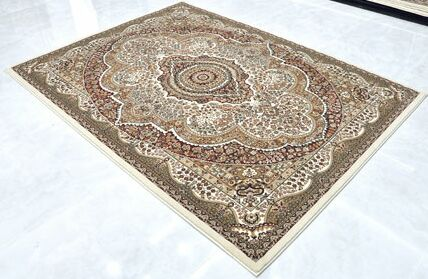 Cream Area Rug Rug Size: Runner 2'7