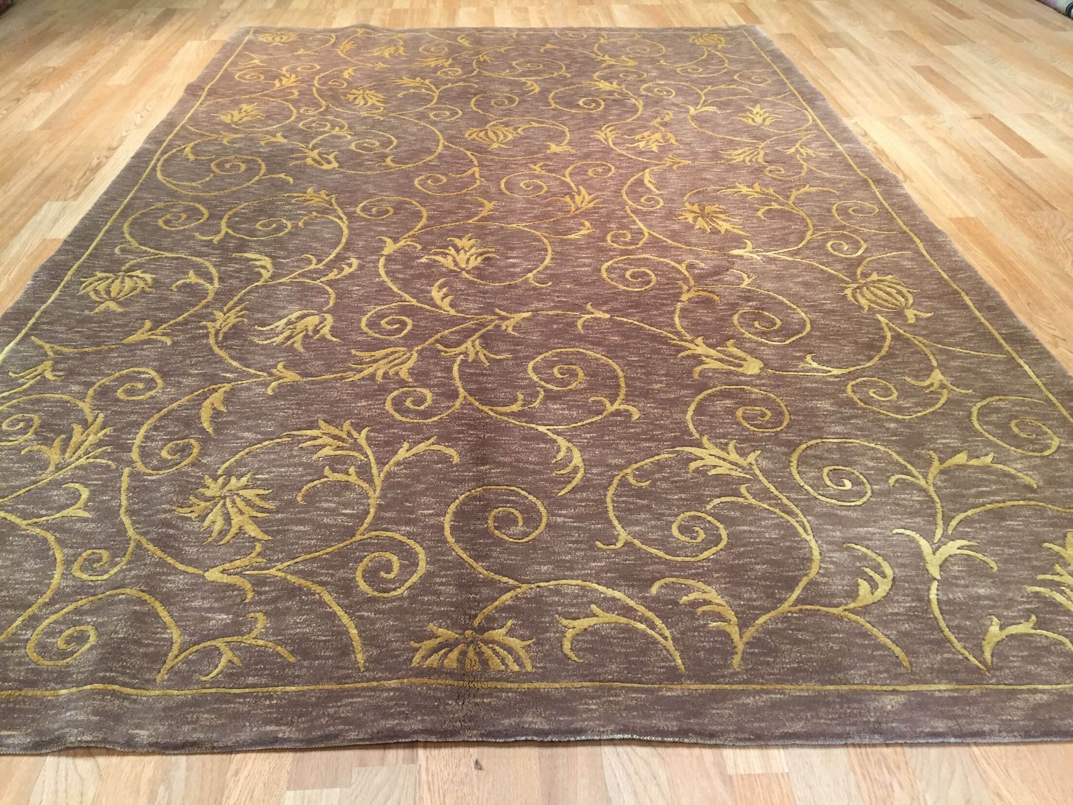 Dream Hand-Knotted Gray/Yellow Area Rug