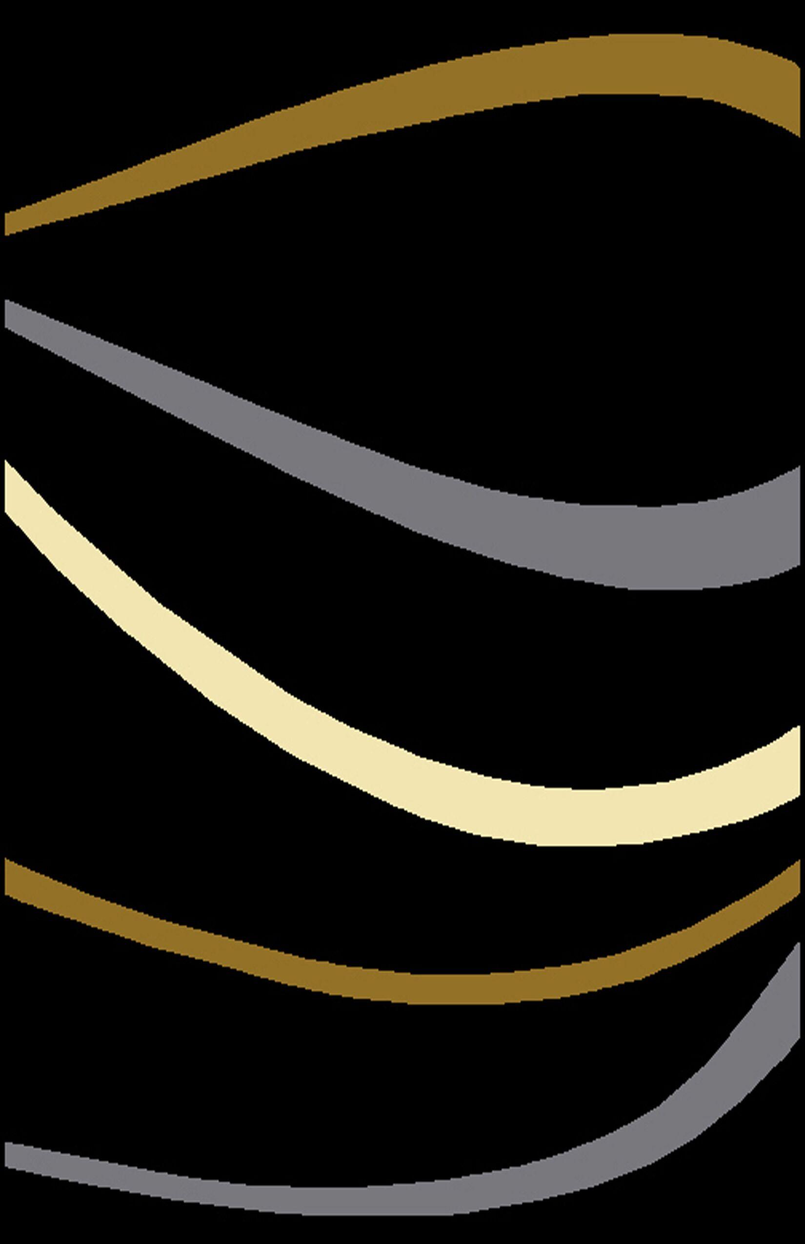 Jermal Black Area Rug Rug Size: 5'3