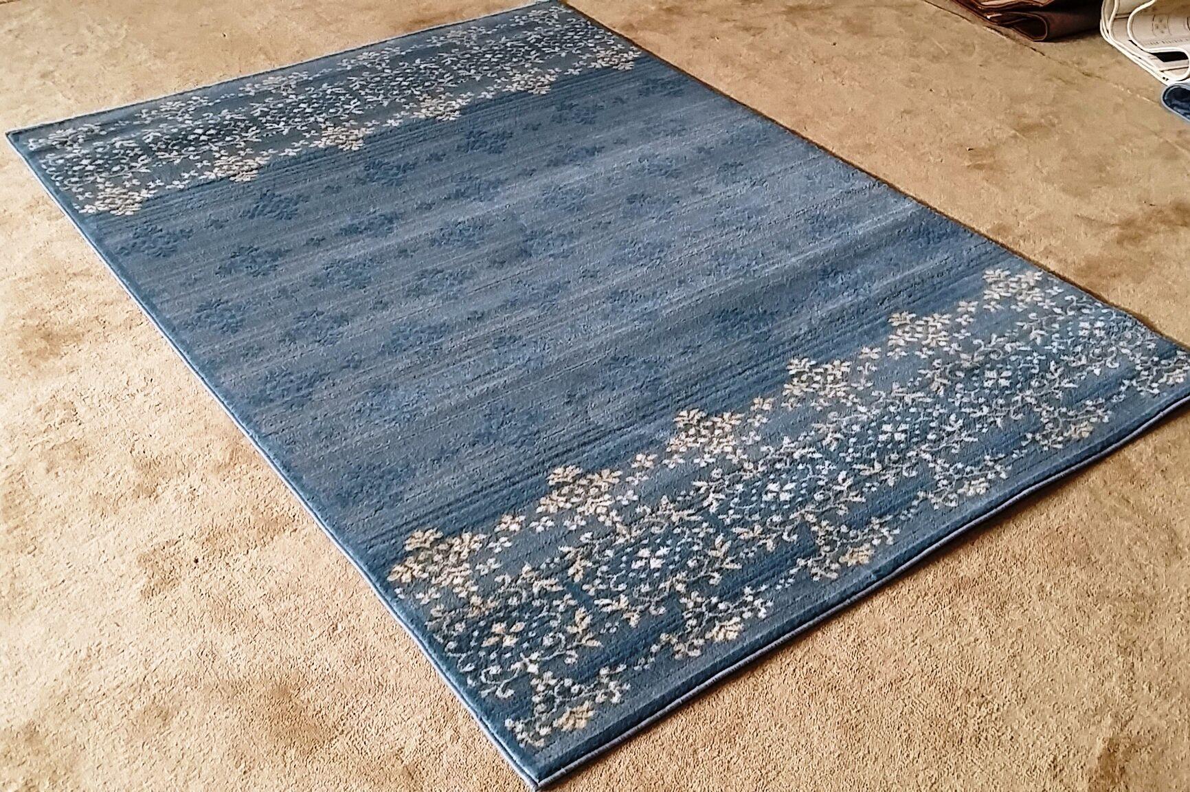 Cahlil Light Blue Area Rug Rug Size: 7'11